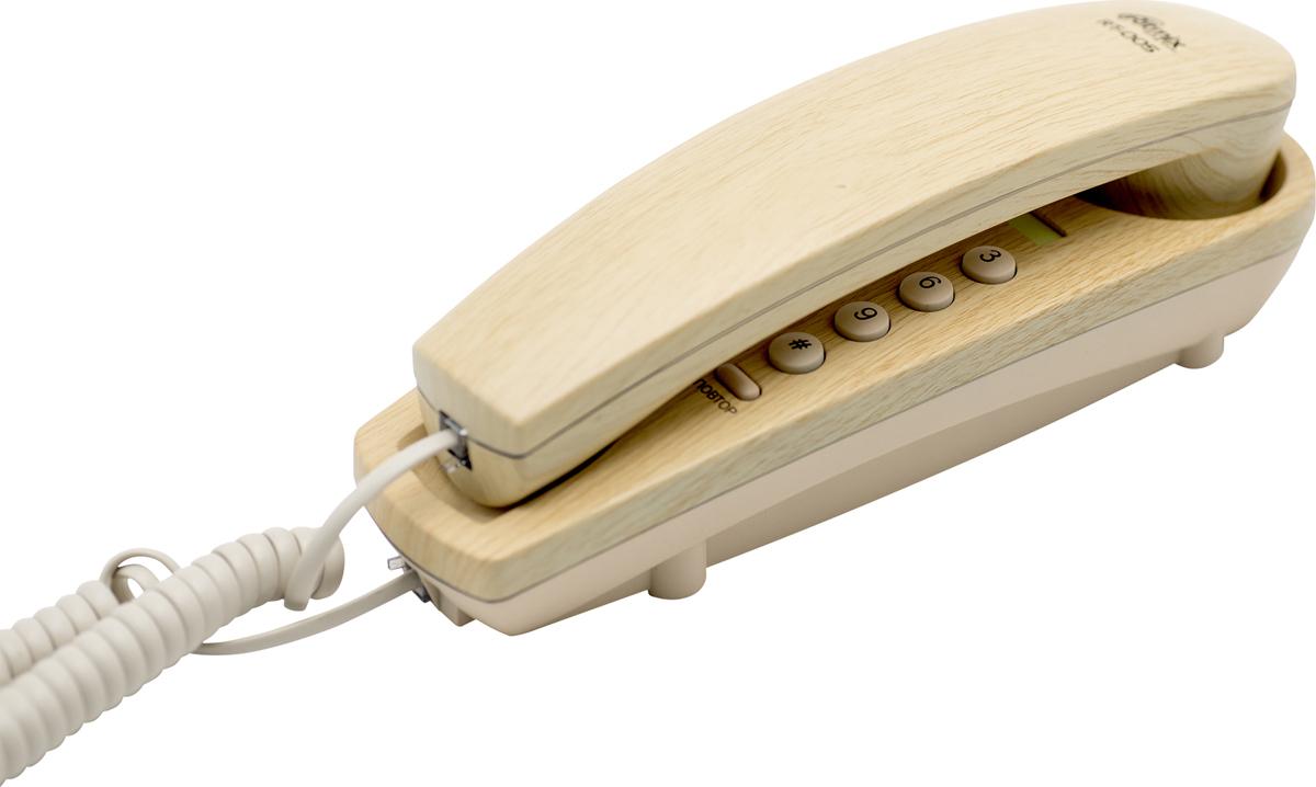Телефон Ritmix RT-005, бежевый телефон ritmix rt 520