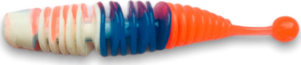 Приманка SOOREX Larva 65mm 128 Россия (Белый/Синий/Красный) Чеснок 8шт.