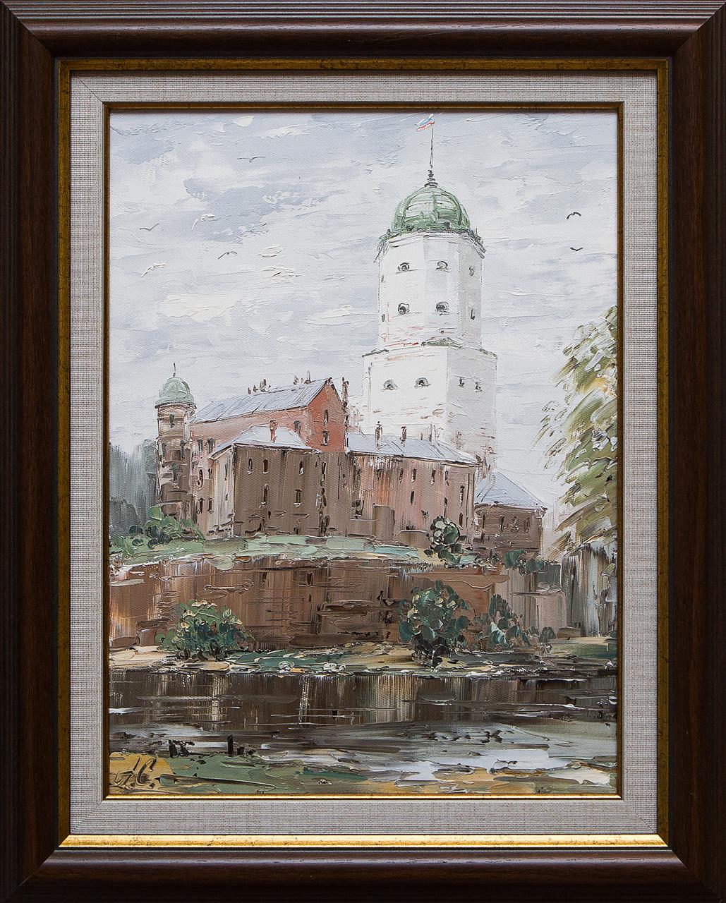 Картина маслом Выборг. Замок Стеняев авиакомпания выборг
