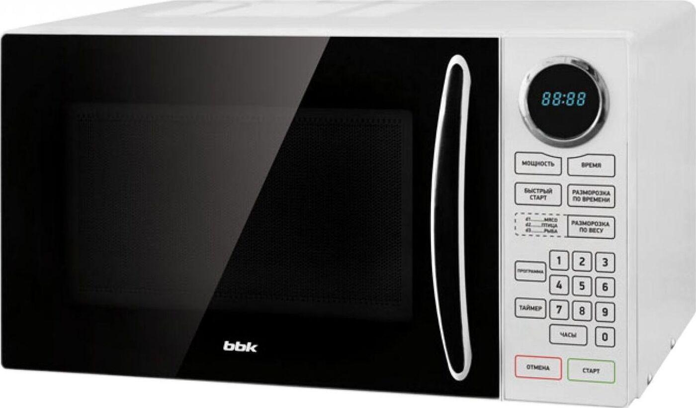 Микроволновая печь BBK 23MWS-916S/BW, черный, белый