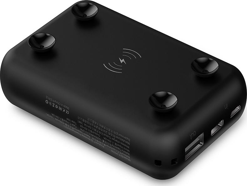 Внешний аккумулятор с беспроводной зарядкой Devia Kintonе series mini wireless power bank 10000mAh Black 10000мАч, черный аккумулятор hoco b32 energetic wireless power bank white