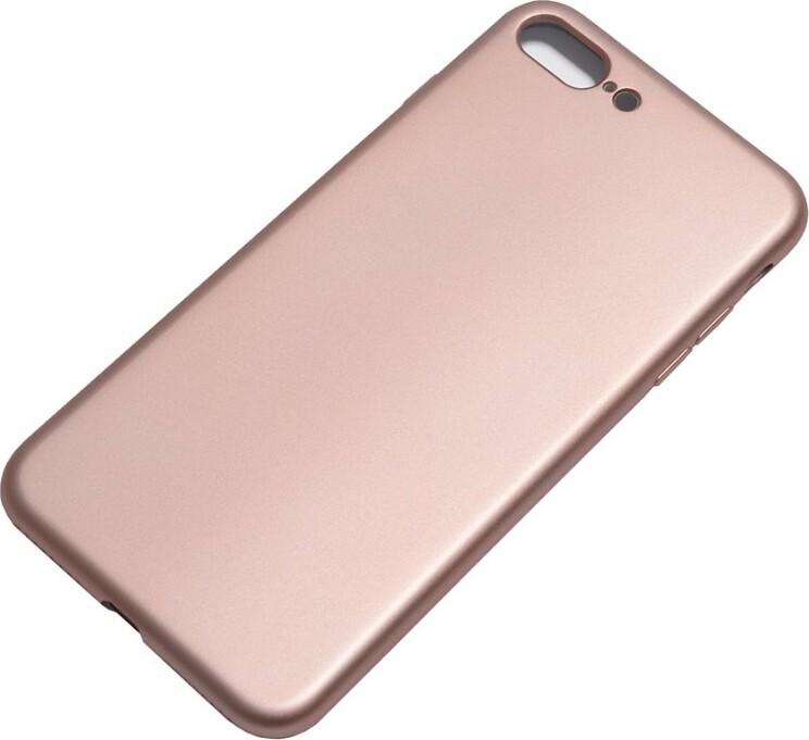 Защитный силиконовый чехол TFN для iPhone 8+/7+, Glance, розовое золото