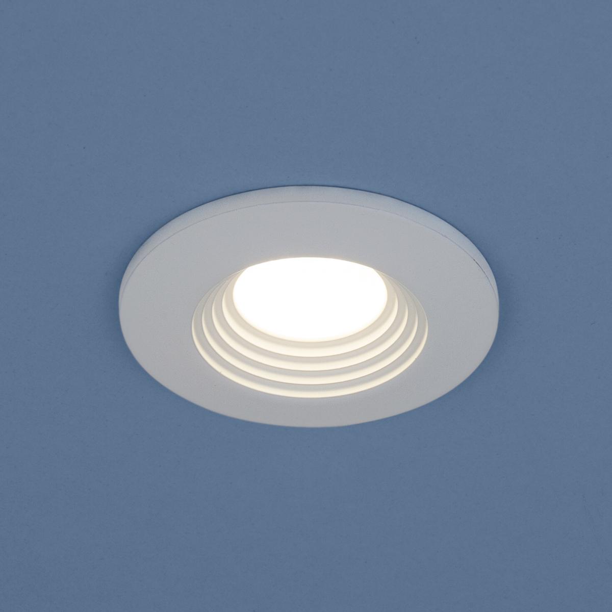 Встраиваемый светильник Elektrostandard Точечный светодиодный 9903 LED 3W COB WH jrled 3w 300lm 6500k 21 cob led white light modules white beige 5 pcs dc 10 11v