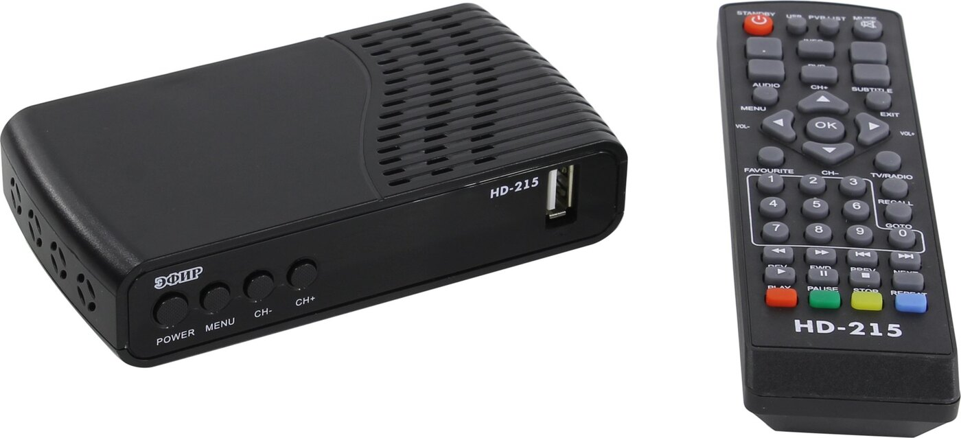 Ресивер Эфир HD-215 пластик, дисплей 003900
