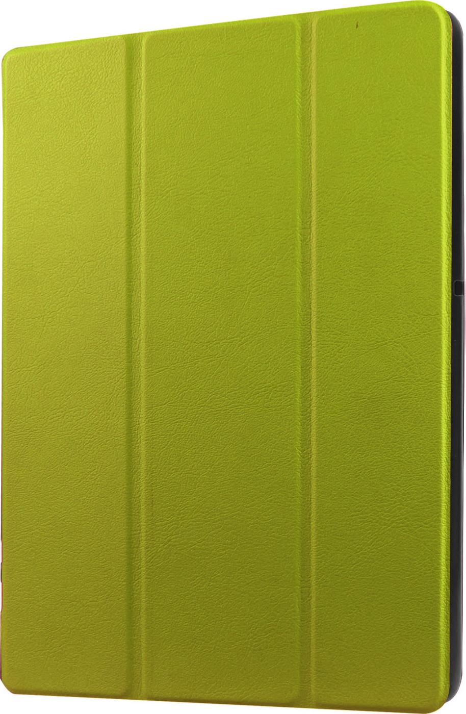 Чехол-обложка MyPads для Samsung Galaxy Tab E 8.0 SM-T377 тонкий умный кожаный на пластиковой основе с трансформацией в подставку зеленый