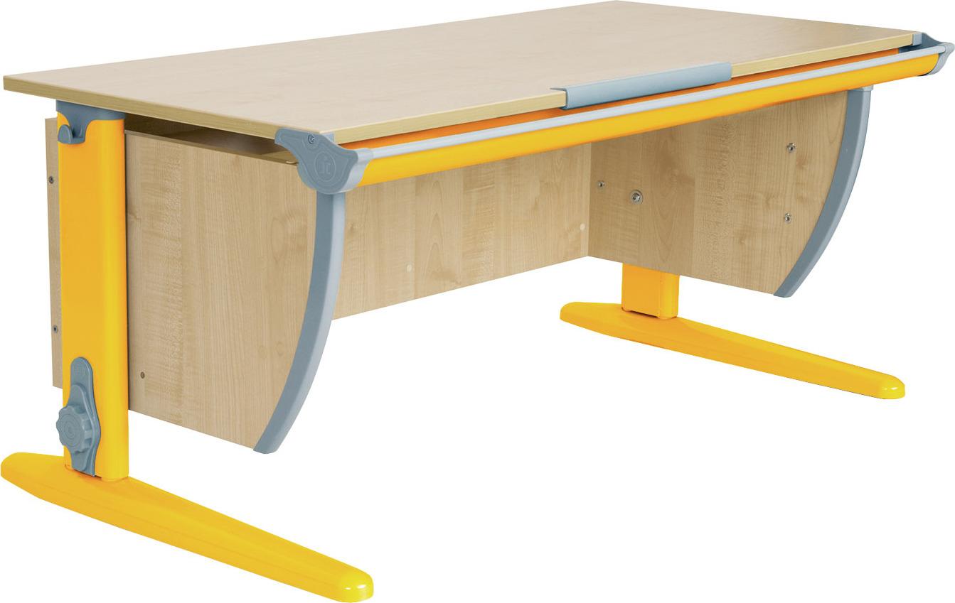 Парта ДЭМИ СУТ-15 120х55 см (цвет столешницы: клен, цвет ножек стола: оранжевый)