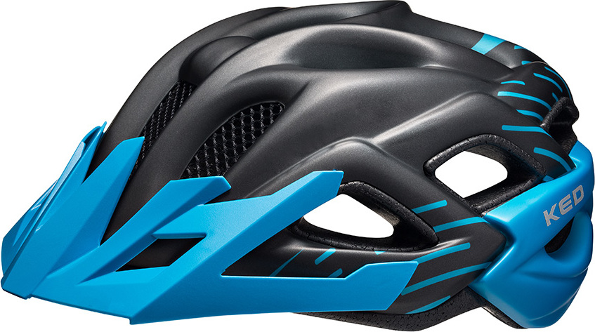 Шлем KED Status Junior Black Blue Matt, размер M