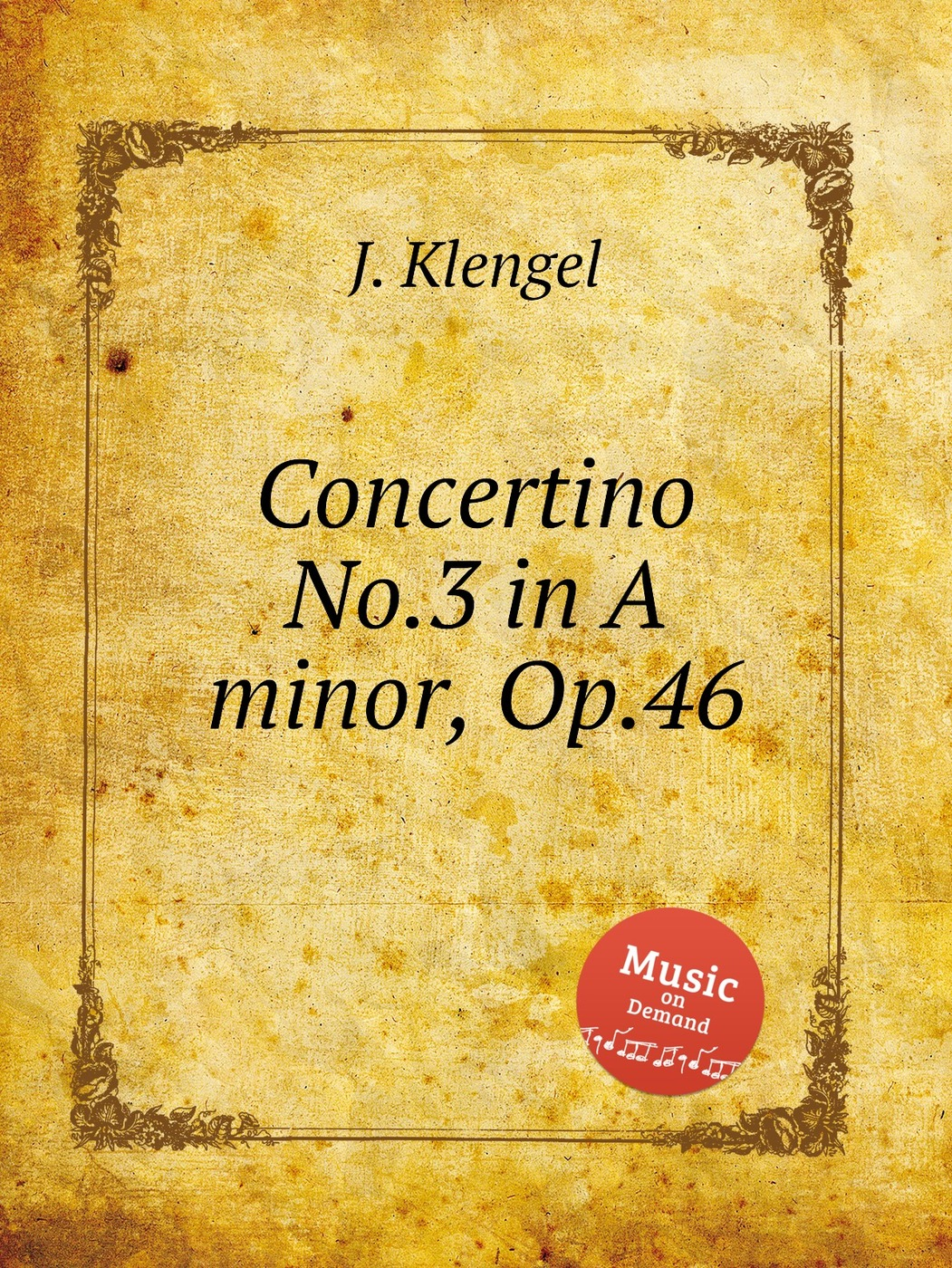 Concertino No.3 in A minor, Op.46