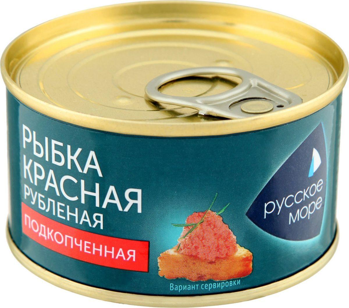 Морепродукты охлажденные Русское море Рыбка красная, рубленая, подкопченная, 120 г Русское море