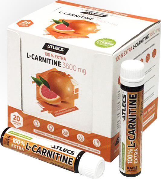 Карнитин L-Carnitine Atlecs 3600 mg, 20х25 мл, грейпфрут