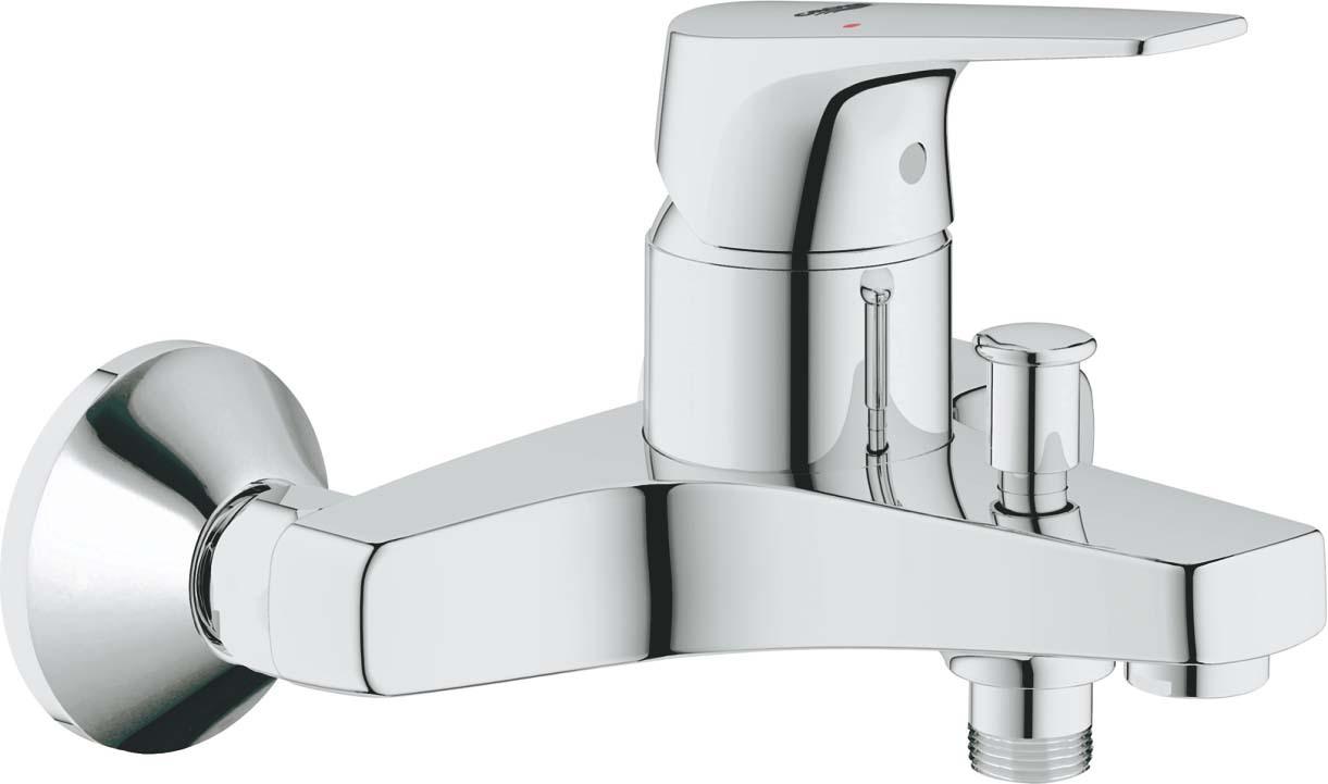 Смеситель для ванны Grohe BauFlow, 23756000, серебристый