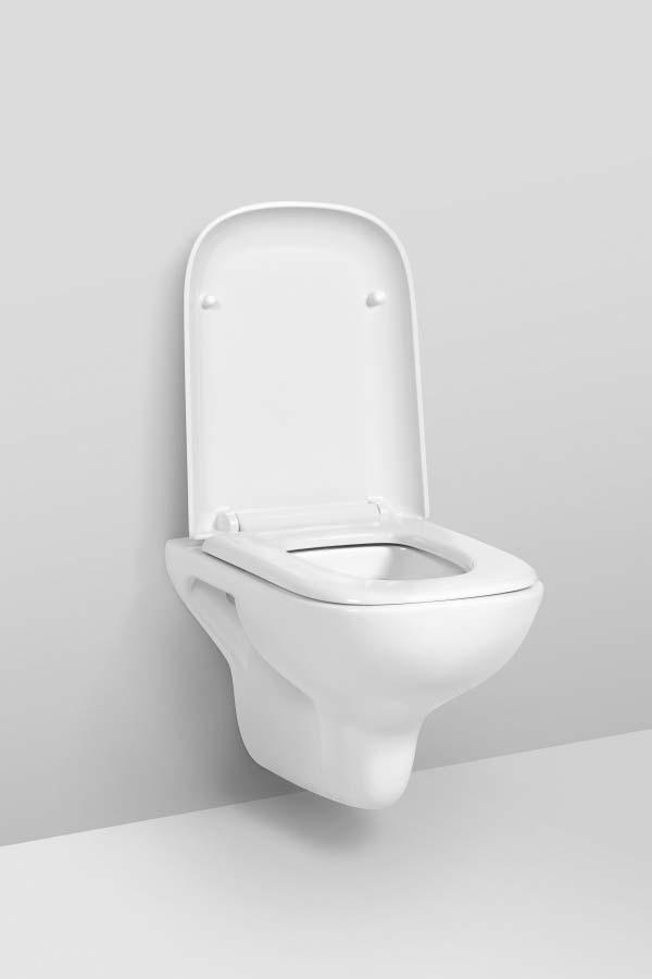 Унитаз подвесной AM.PM Like, безободковый, с сиденьем микролифт, C801700SC, белый, 40,7 х 45,2 х 54,5 см