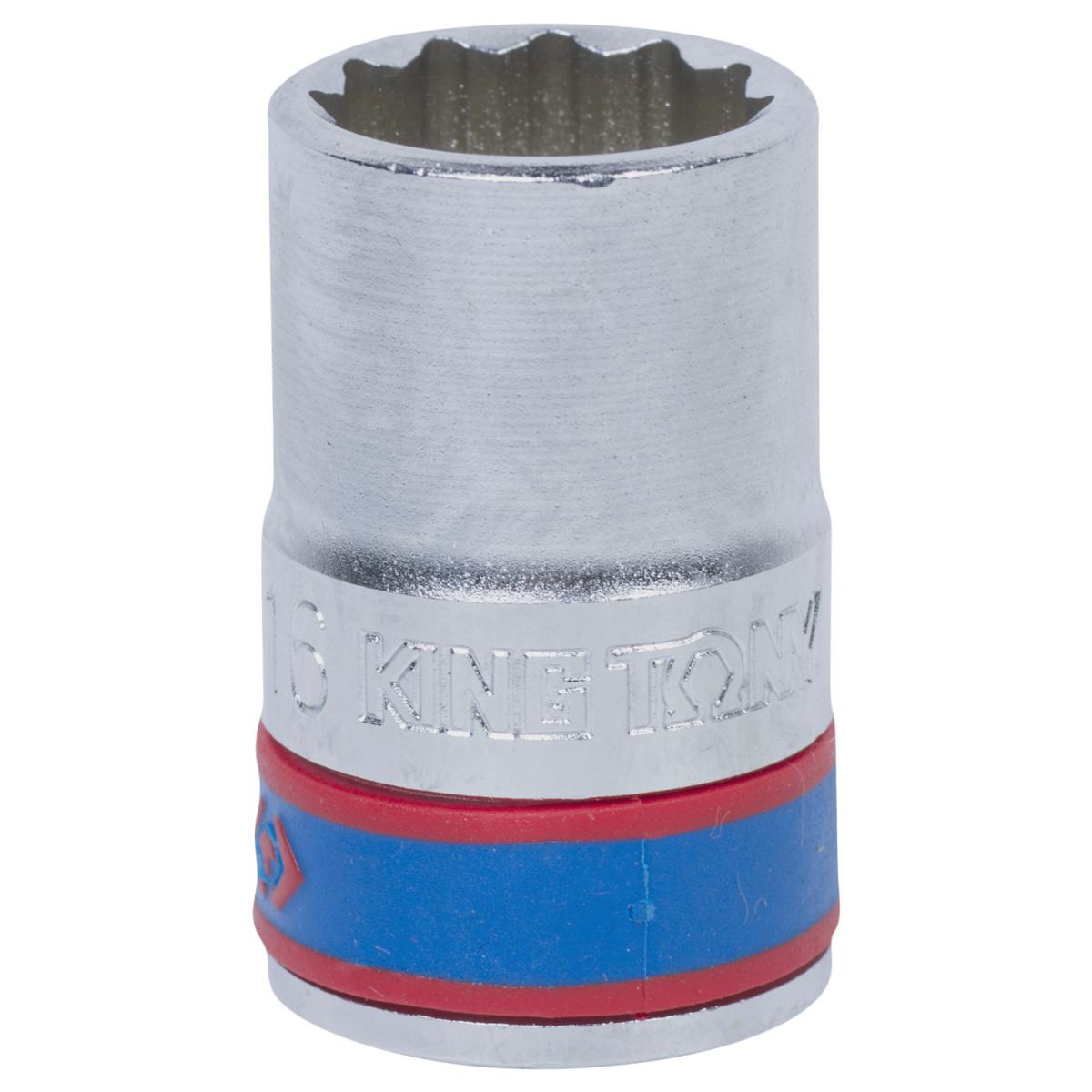 "Головка торцевая стандартная двенадцатигранная 1/2"", 16 мм KING TONY 433016M"