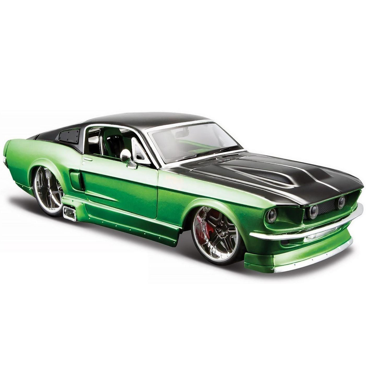 "Maisto ""Машинка сборная, зеленая - Ford Mustang GT 1967 года 1:24"""