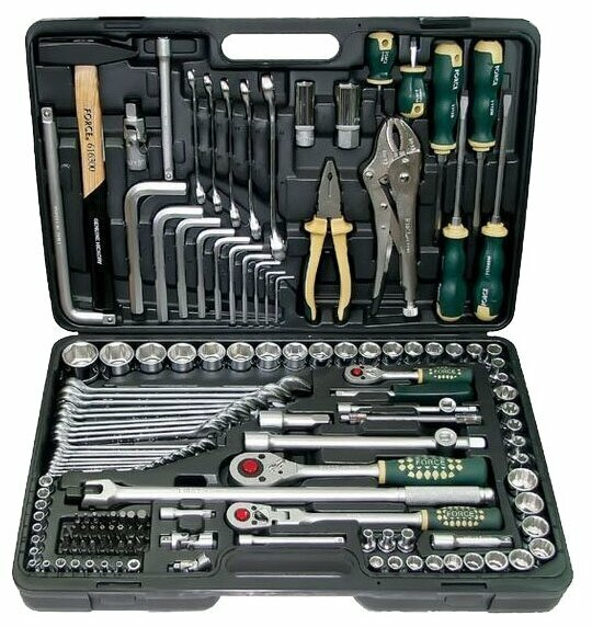 Набор инструмента FORCE с 6-ти гранными головками 142 предмета 41421R