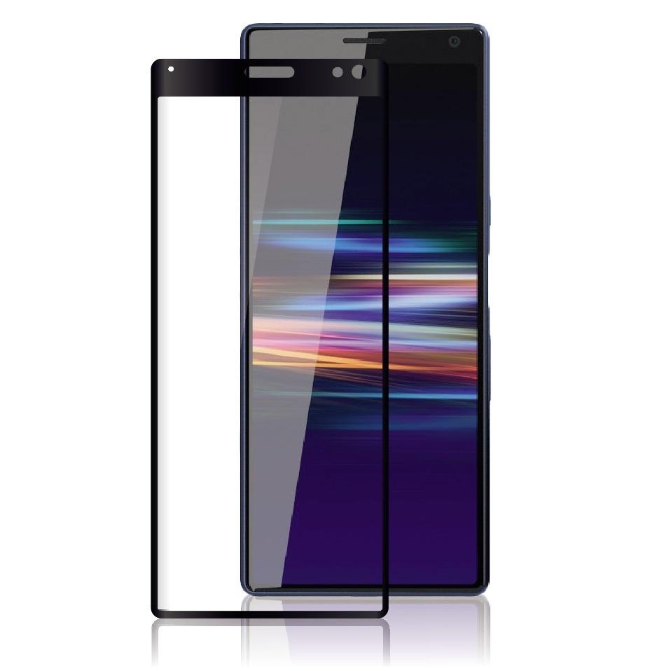 3D/5D защитное стекло MyPads для Sony Xperia 10 Plus с закругленными изогнутыми краями которое полностью закрывает экран / дисплей по краям с олеофобным покрытием