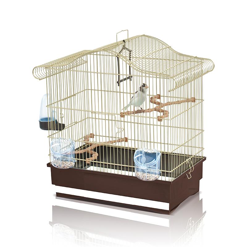 клетка для птиц imac serena, золото/корич., 50х30х50см