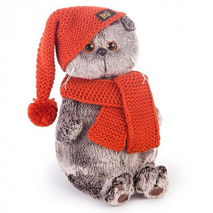 """Мягкая игрушка 19см BUDI BASA """"Басик в вязаной шапке и шарфе"""" (Ks19-075)"""