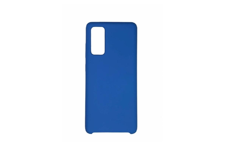 Чехол-накладка Samsung Silicone Cover для Galaxy S20 FE, Тёмно-синий+ Защитное стекло в подарок