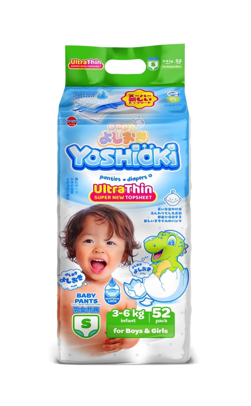 YOSHIOKI трусики - подгузники, ультратонкая серия, размер S (3 - 6 кг) 52 шт
