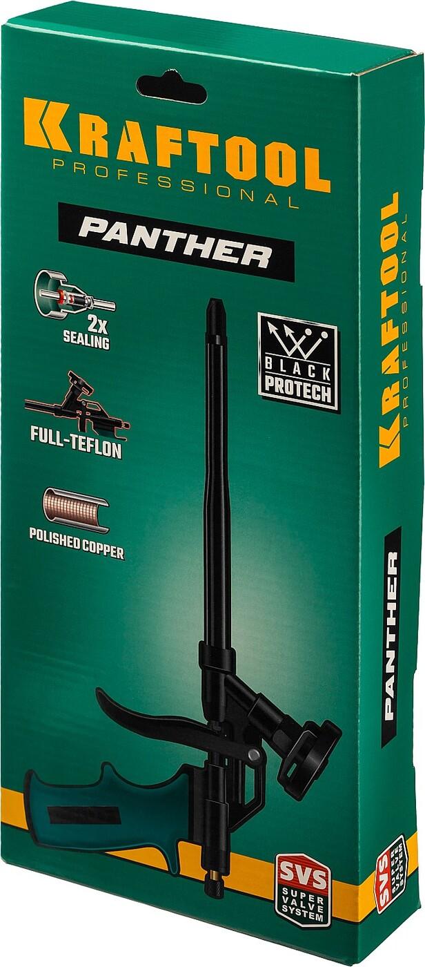 KRAFTOOL PANTHER профессиональный пистолет для монтажной пены с полным тефлоновым покрытием, 06855