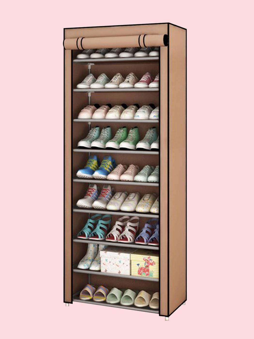 Обувница BEVELIX_03, Металл, ABS пластик, 60х30х155 см