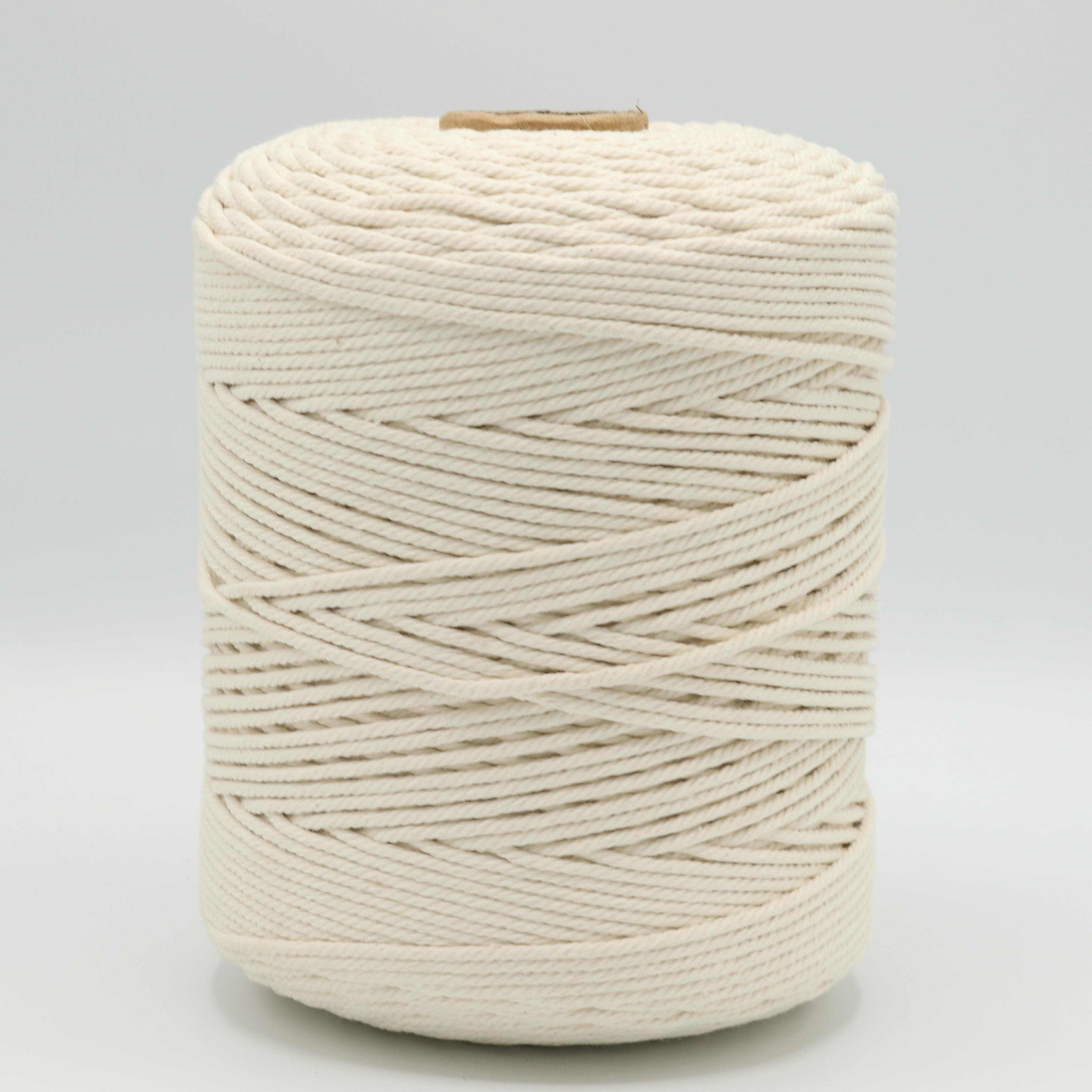 Веревка крученая для макраме 100% Хлопок, 3мм х 500м(+/-5), цв.суровый