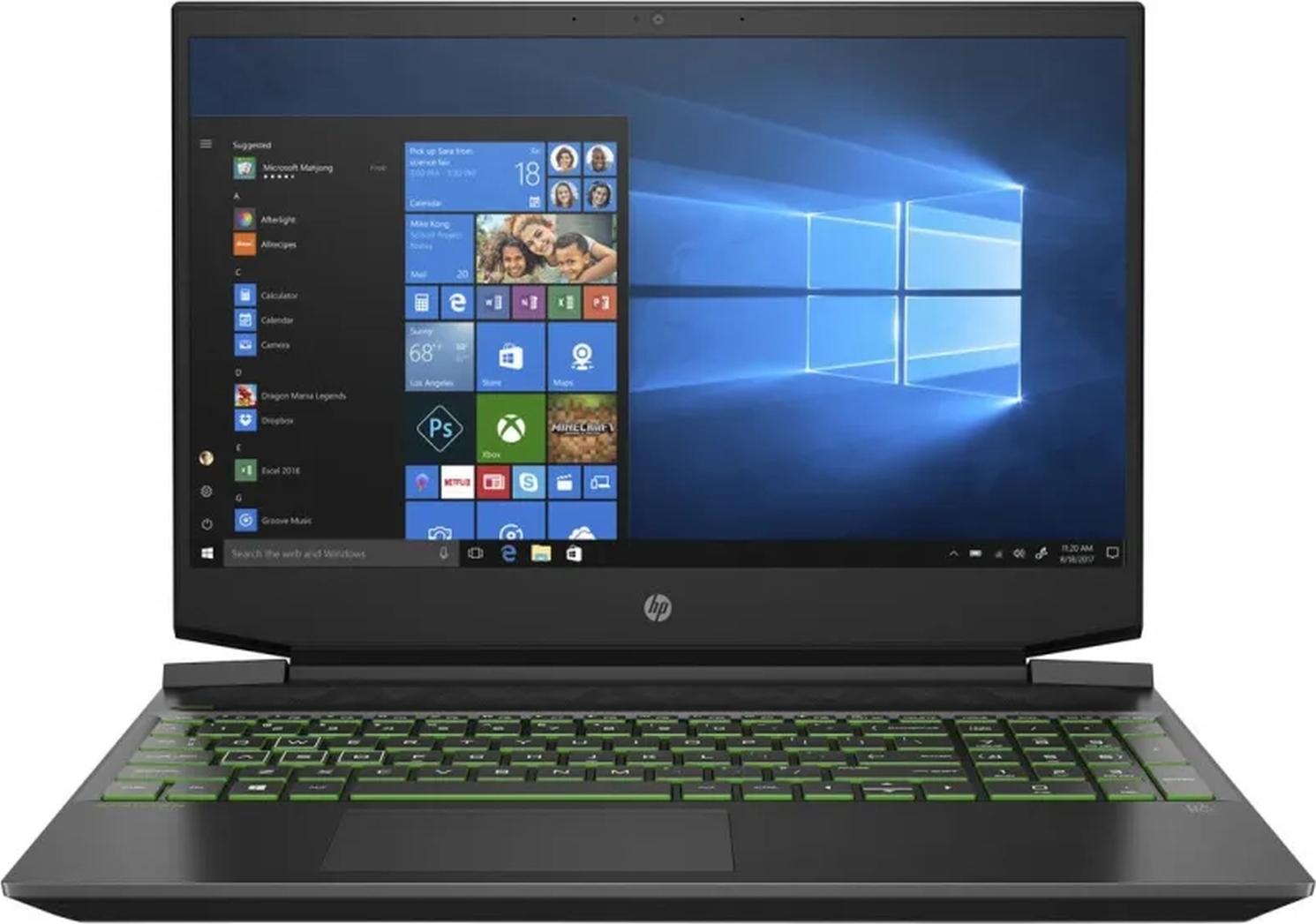 """15.6"""" игровой ноутбук hp pavilion gaming 15-ec1097ur, amd ryzen 5 4600h (3.0 ггц), ram 8 гб, ssd 512 гб, nvidia geforce gtx 1650 ti (4 гб), без системы, (3b4c3ea)"""
