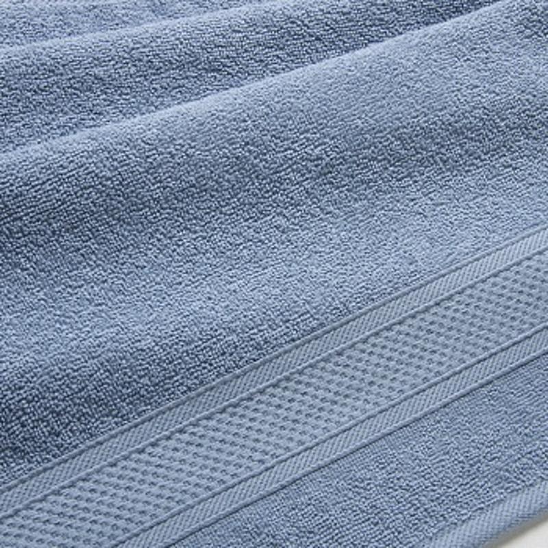 Полотенце банное махровое с бордюром 1080 Махровая ткань, 100x180 см, серый  #1