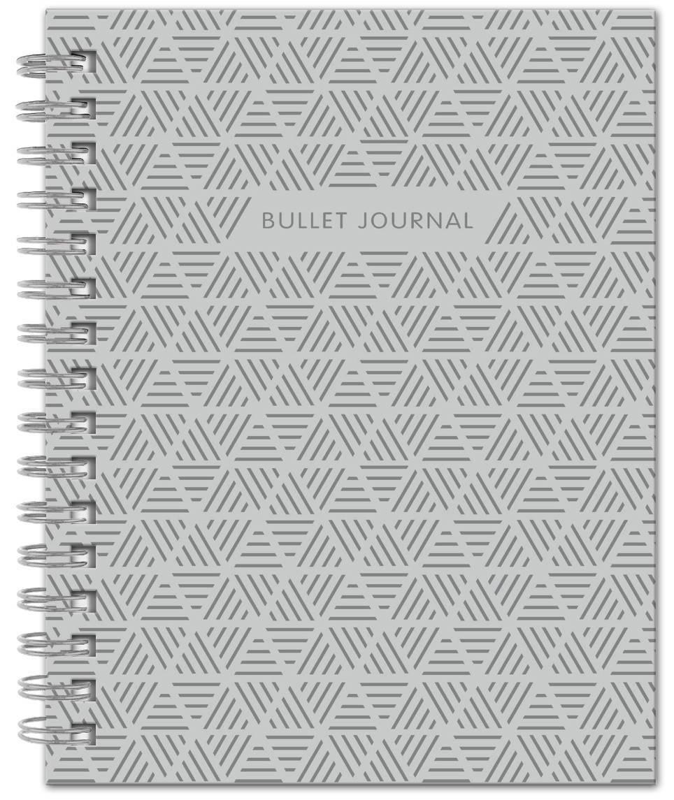 Bullet Journal (Серый) 162x210мм, твердая обложка, пружина, блокнот в точку, 120 стр. | Нет автора  #1