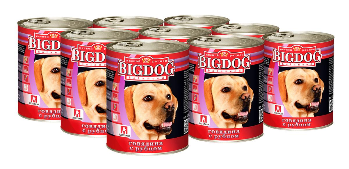 "Корм консервированный Зоогурман для собак ""BIG DOG"" Говядина с рубцом 850 гр*9  #1"
