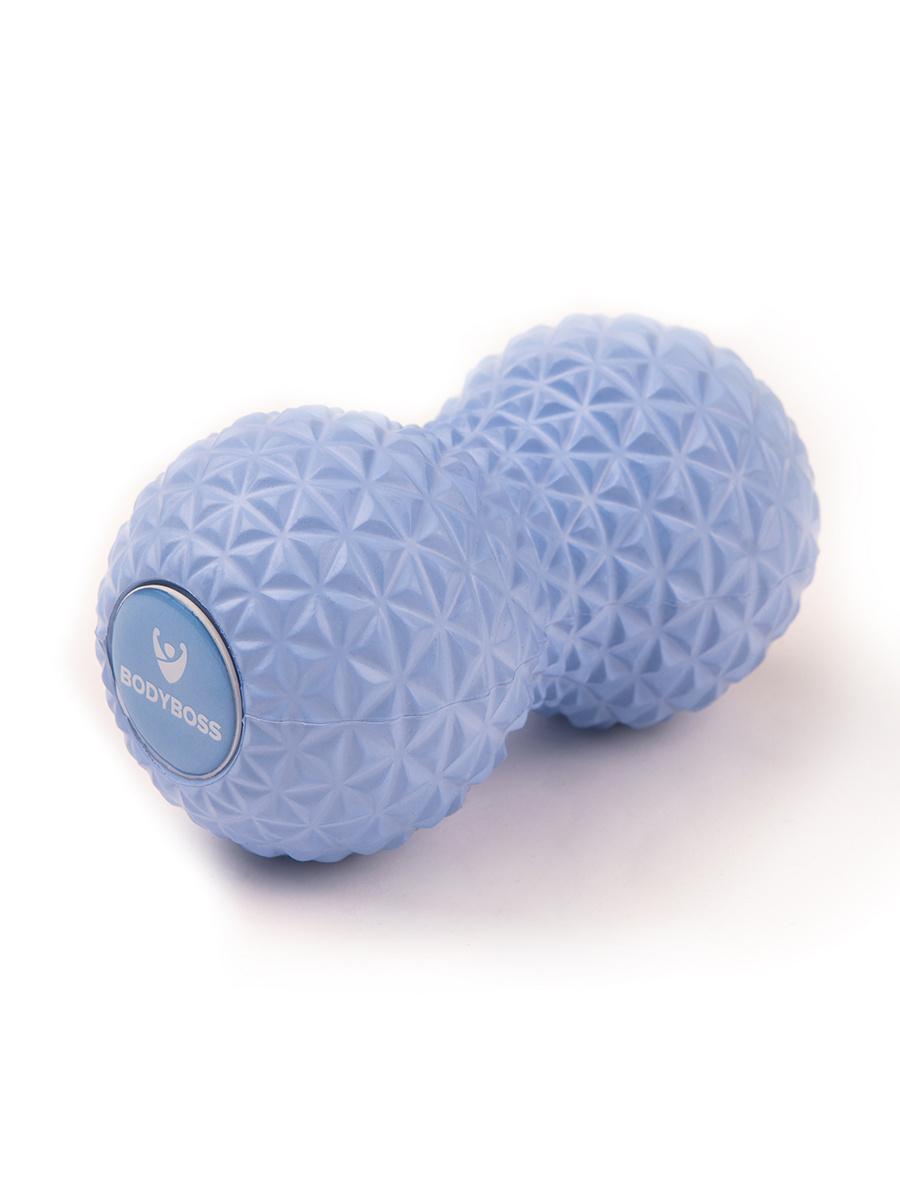 Массажный ролик Bodyboss GRANULA TWIN BALL / Голубой / 16х9 см / Двойной / Мячики массажные / Массажный #1