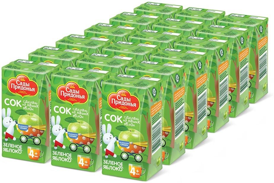 Сады Придонья Сок яблочный из зеленых яблок осветленный восстановленный с 4 месяцев, 18 шт по 0,125 л #1