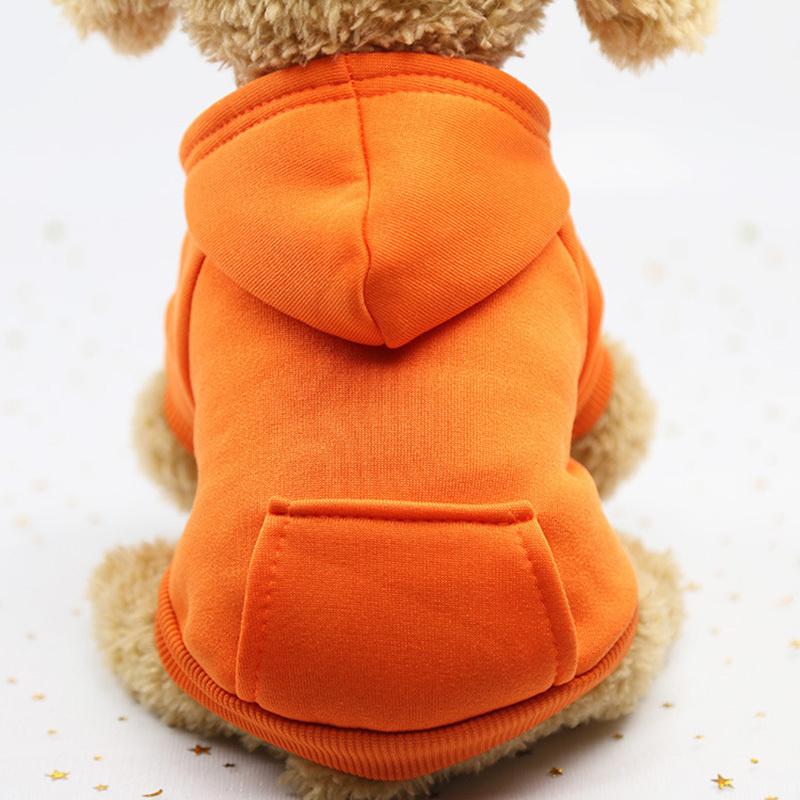 Толстовка с капюшоном для собак и кошек, Цвет: Оранжевый, Размер: L  #1