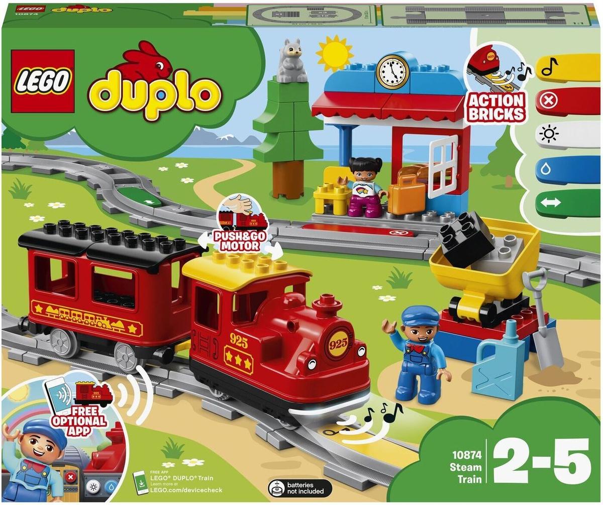Конструктор LEGO DUPLO Town 10874 Поезд на паровой тяге #1