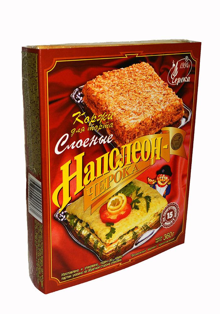 Коржи для торта Черока слоеные Наполеон, 12 штук по 360 г #1
