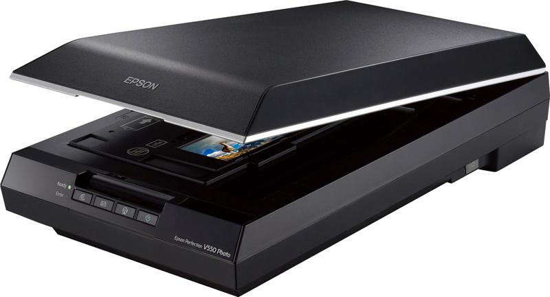 Сканер Epson V550, B11B210303, черный