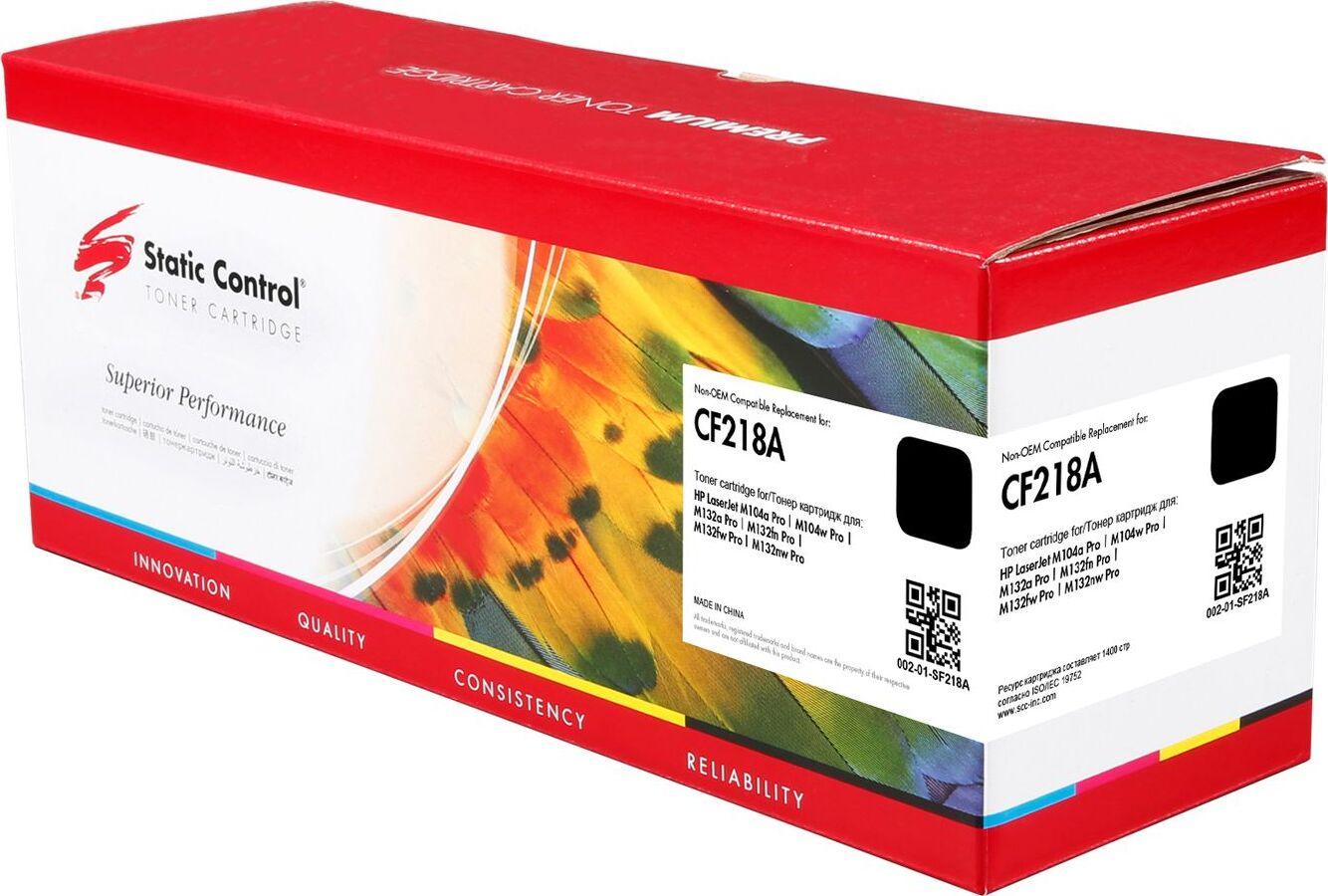 Картридж Static Control CF218A, черный, для лазерного принтера