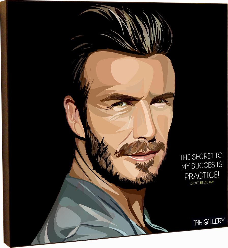 Картина постер Дэвид Бекхэм 2 в стиле поп-арт 25 х см