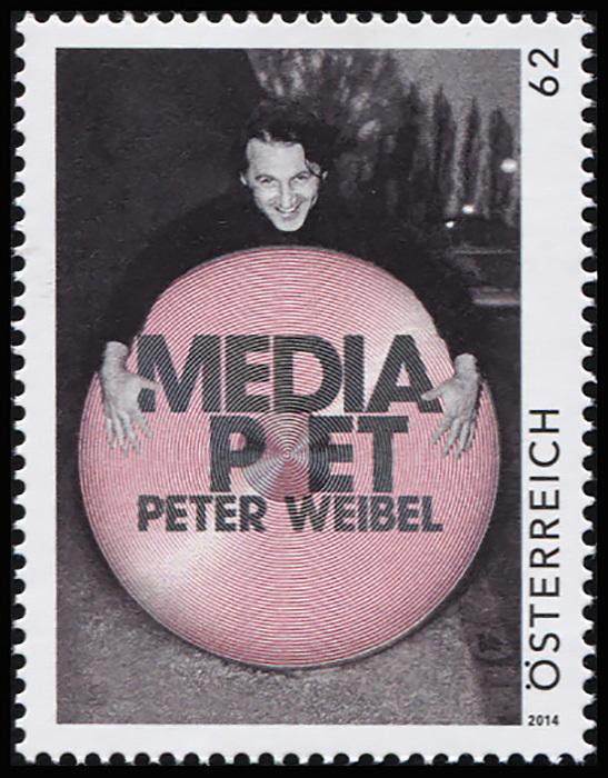 Австрия 2014. Media Poet. Петер Вейбель (MNH OG) Почтовая марка