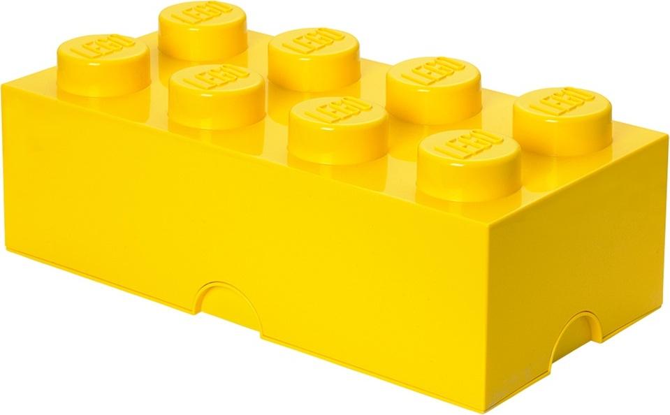 Ящик для хранения 8 LEGO желтый
