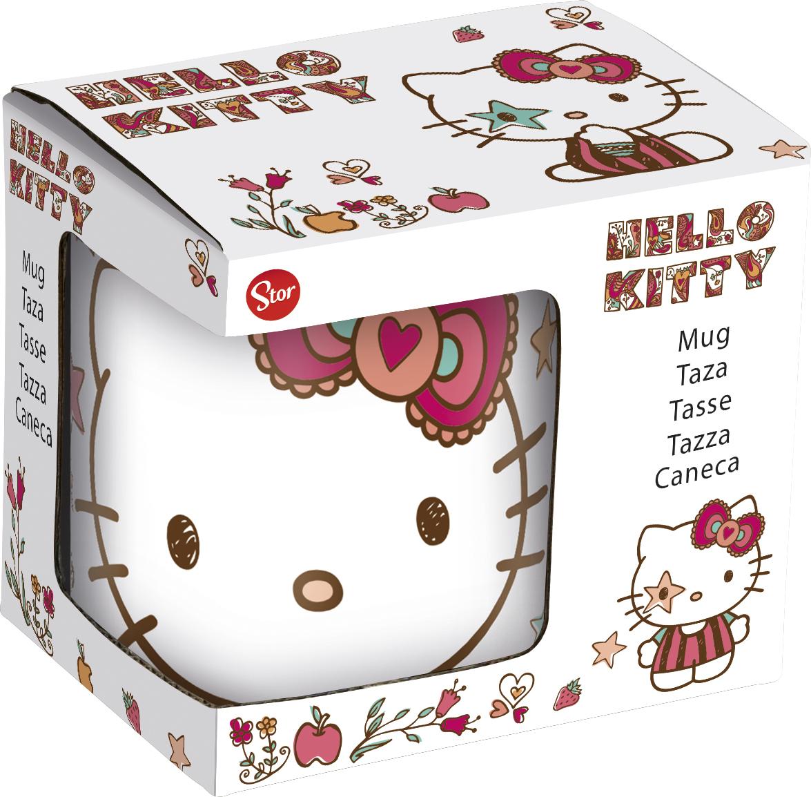 цены на Кружка керамическая Stor в подарочной упаковке (№4, 220 мл). Hello Kitty, арт.46226  в интернет-магазинах