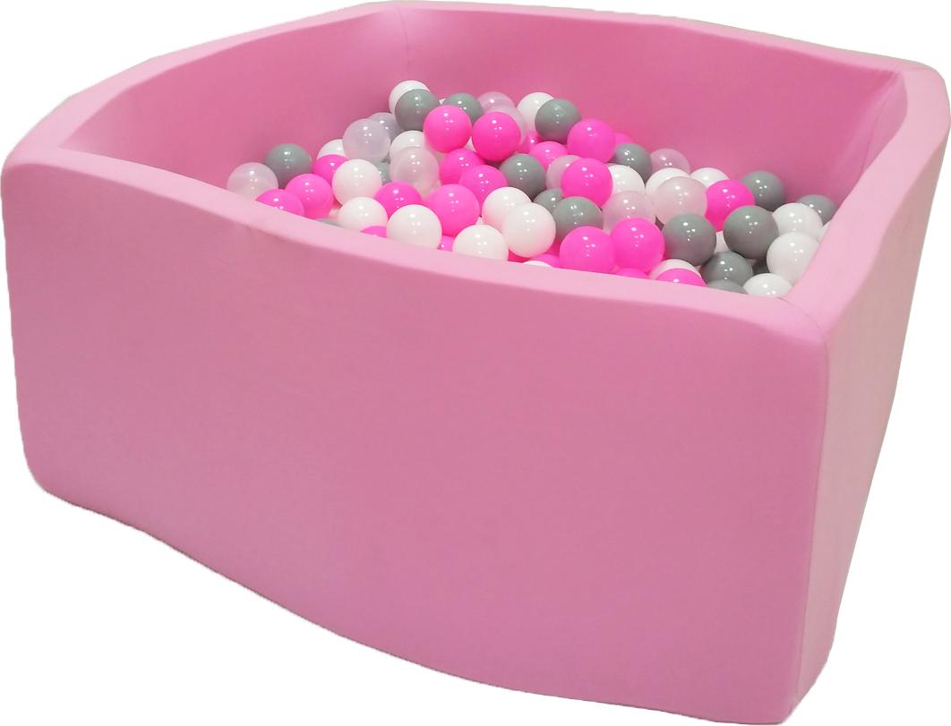 Сухой бассейн Розовые пузыри Квадро выс. h40см с 200 шариками в комплекте: розовый, белый, серый, прозрачный домик bony в комплекте с шариками арка 92 92 90 100 шаров