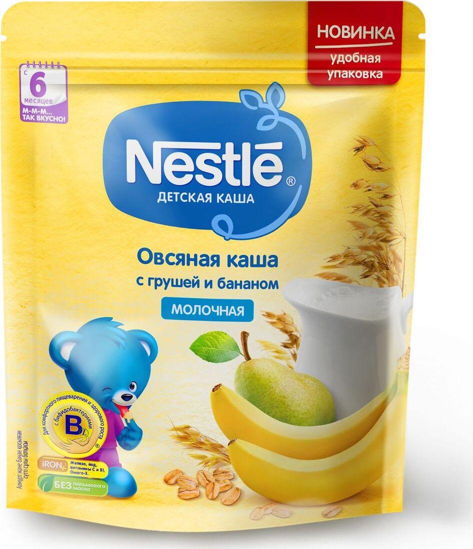Каша для детей Nestle, молочная, овсяная, с грушей и бананом, 6 месяцев, 220 г