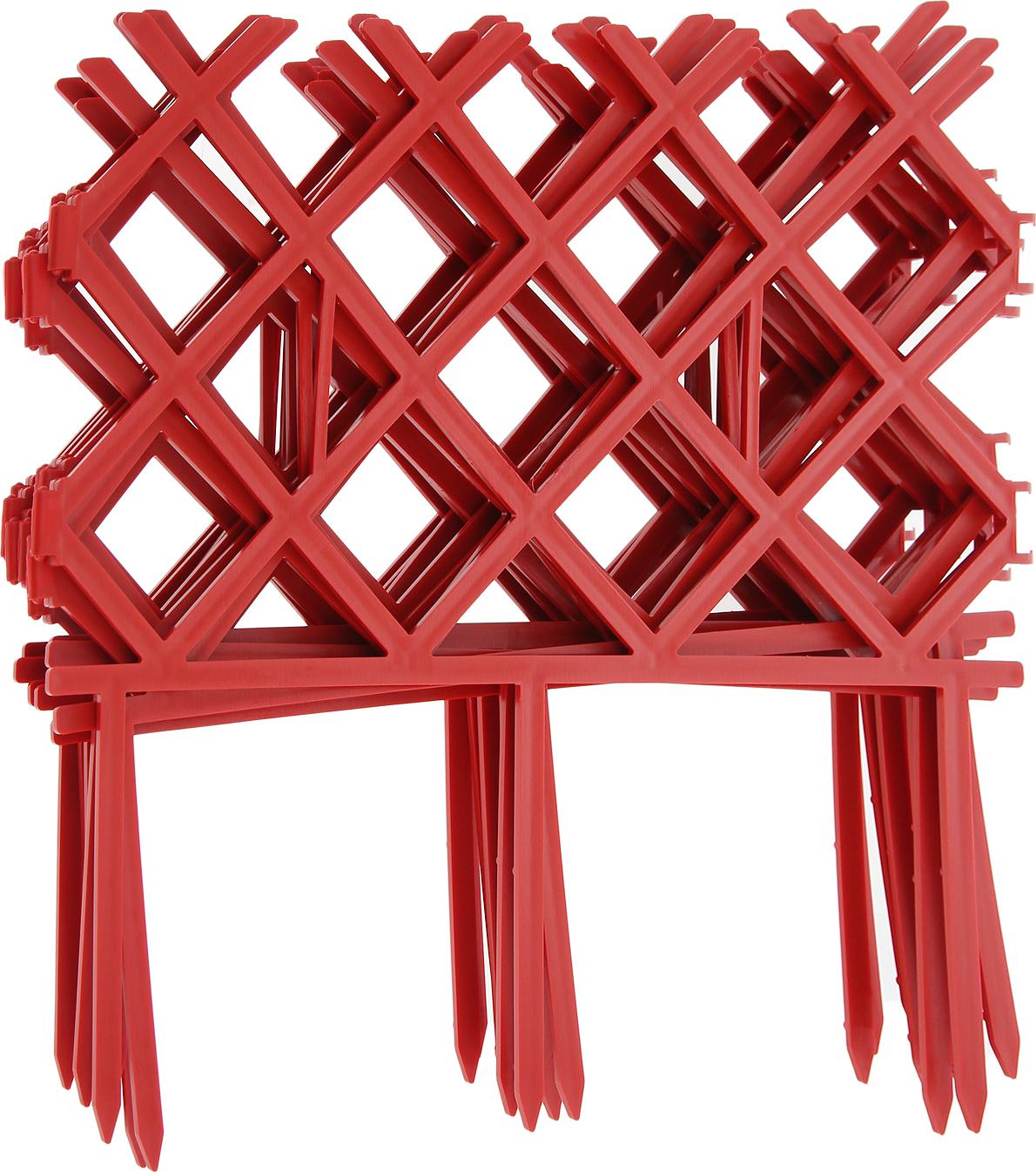 Забор декоративный Комплект-Агро Палисад, цвет красный 19 см х 3 м табурет садовый комплект агро 35 х 22 х 26 см