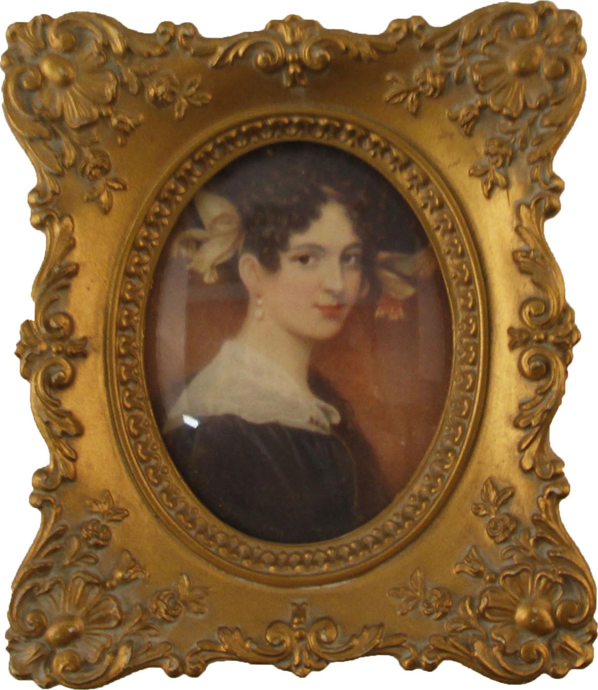 Настенный декор Портрет. Композитный материал, стекло. США, конец ХХ века.