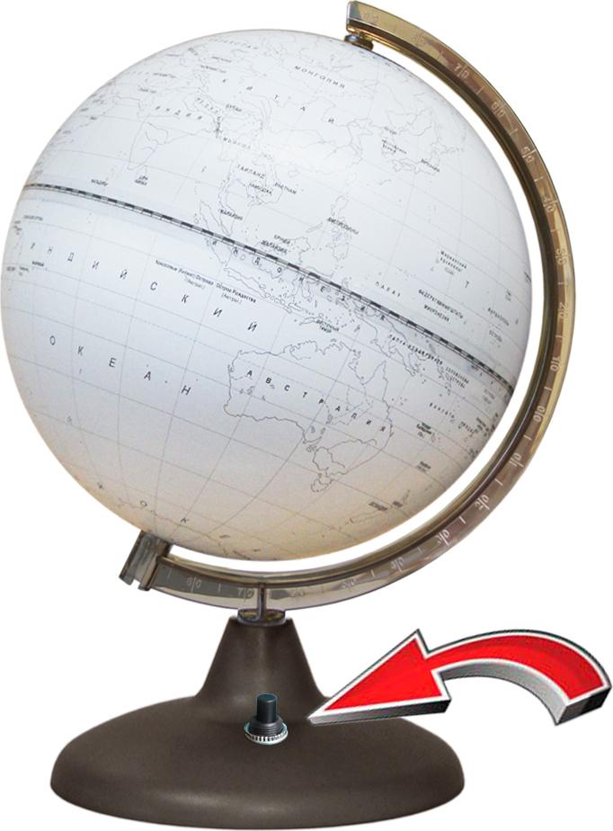 все цены на Глобусный мир Глобус Контурный с подсветкой диаметр 21 см онлайн