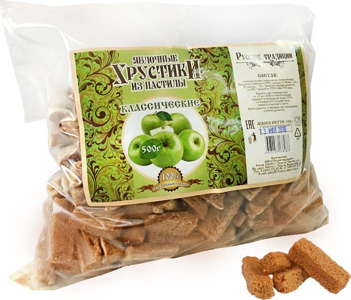 Яблочные Хрустики из пастилы (классические) 0,5кг