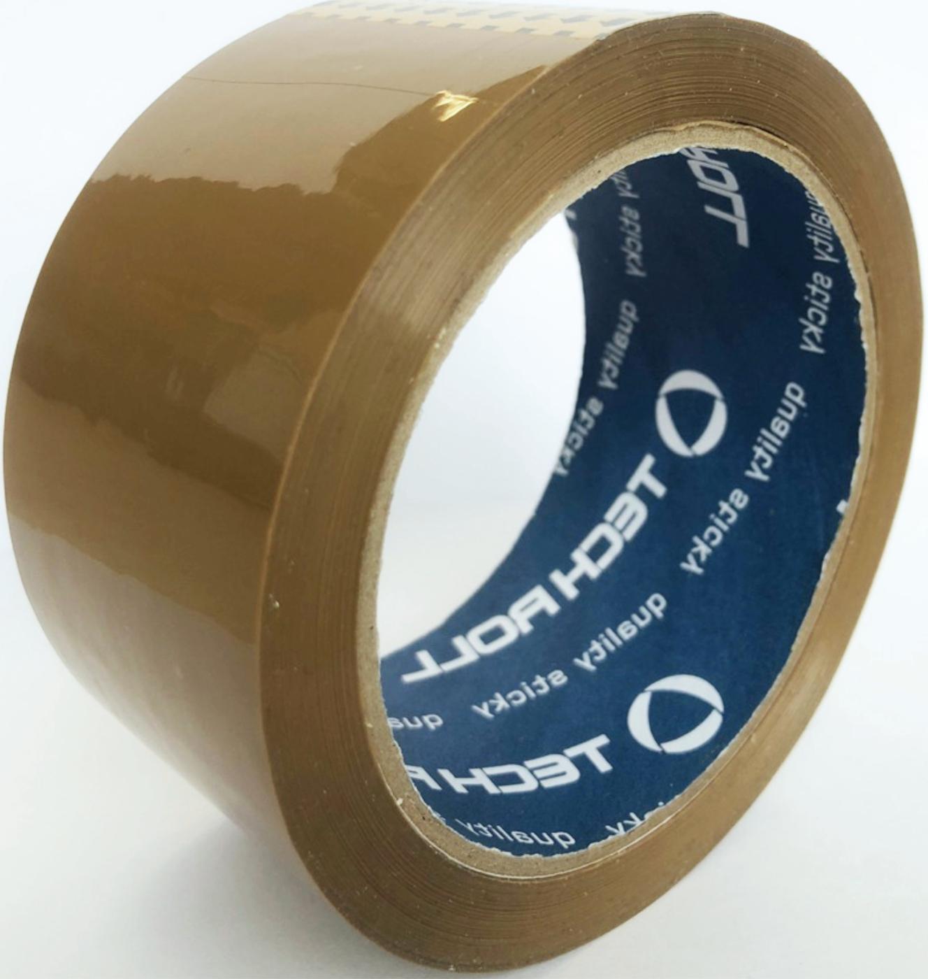 Скотч TechRoll упаковочный 48мм x 66м x 40 мкм, коричневый TechRoll