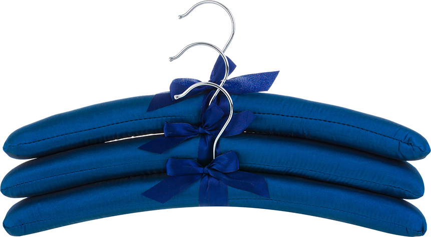 Набор вешалок 3 шт. 38х3,2х13,8 см EL Casa Синие с синим бантиком